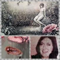 """""""Beaktande av en ros"""" av Sandra Hultsved. Smycken av Pärlbesatt. Porträtt av Caisa Viksten"""